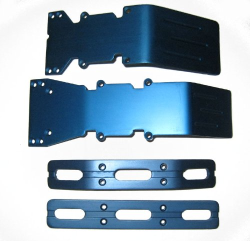 T-Maxx and E-Maxx Blue Anodized Skid Plate and Bumper Deal (Anodized Plate Skid)
