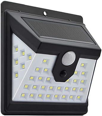 YANKK Luz Solar Exterior con Detector de Movimiento de 120°, Focos Solares LED, Lámparas Solares para Exterior Súper Brillante, Luz Solar para Jardín, Puerta de Entrada, Garaje: Amazon.es: Iluminación