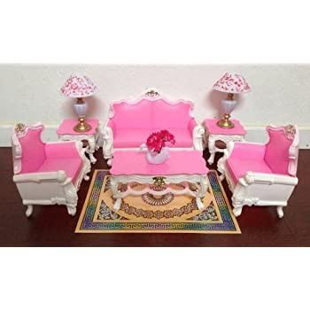 Gloria Barbie Sized Deluxe Living Room Furniture Accessories Playset Toys Games