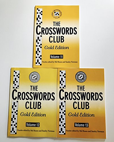 Issues 11, 12, and 13 of Crosswords Club Gold Edition Crossword Puzzles