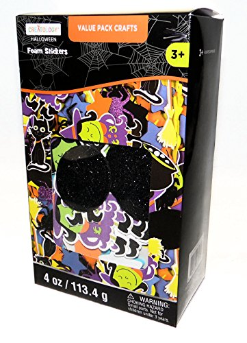 Halloween Witches Black Cats Large Value Pack Foam Stickers Activity Art (Halloween Homeschool Projects)