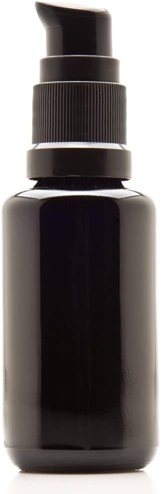 Infinity Jars Black Ultraviolet Glass Push Pump Bottle Variety Pack