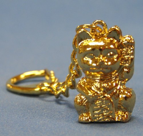 Feng Shui Lucky Cat Keychain to Bring Wealth