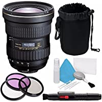 Tokina AT-X 14-20mm f/2 PRO DX Lens for Canon EF (International Model) No Warranty + Deluxe Cleaning Kit + 82mm 3 Piece Filter Kit + Deluxe Lens Pouch Bundle 8