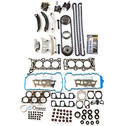 ECCPP Engine Timing Chain Kit Head Gasket Set for 07-11 Chevrolet Equinox Chevrolet Malibu Saturn Aura Suzuki XL-7 3.6L Head Gasket Set ()