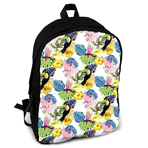 (CZZD The Romance of Bird's Language and Flower's Fragrance Travel Laptop Backpack Schoolbags Men and Women On Campus)