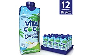 Vita Coco Coconut Water, Pure Organic | Naturally Hydrating Electrolyte Drink | Smart Alternative To Coffee, Soda, & Sports Drinks | Gluten Free | 16.9 Oz (Pack Of 12)