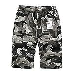 LAUSONS Short Garcon Camouflage - Bermuda Enfant Garçon été - Pantalon Court Militaire Slim Chino Shorts 9