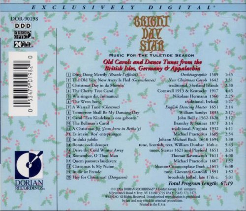 Bright Day Star: Music for the Yuletide Season by Sono Luminus