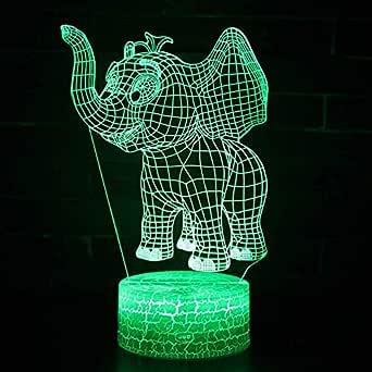Luz De Noche Para Niños, Lámpara De Luz 3D 7 Colores