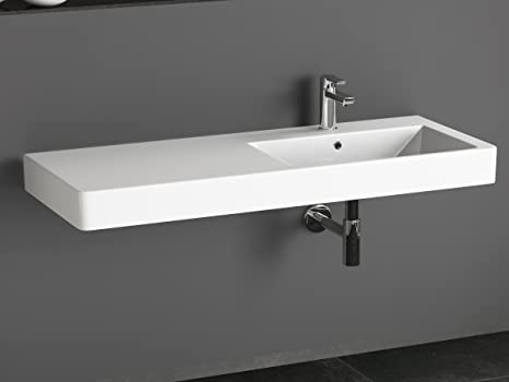 Aqua bagno kp.120.r lavabo design lavabo 120 x 45 cm ceramica bianco