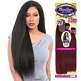 Sensationnel Human Hair Blend Weave Premium Too 3 Multi Bundles Boutique Kinky Straight (18'+20'+22') + 4' Deep Lace Parting (2)