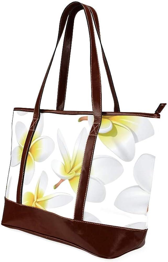 Tote Bags Tropical Flowers Seamless Vector Travel Totes Bag Fashion Handbags Shopping Zippered Tote For Women Waterproof Handbag
