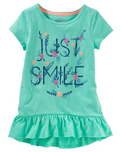 - Osh Kosh Girls' Toddler Short Sleeve Knit Tunic, Mint 4T