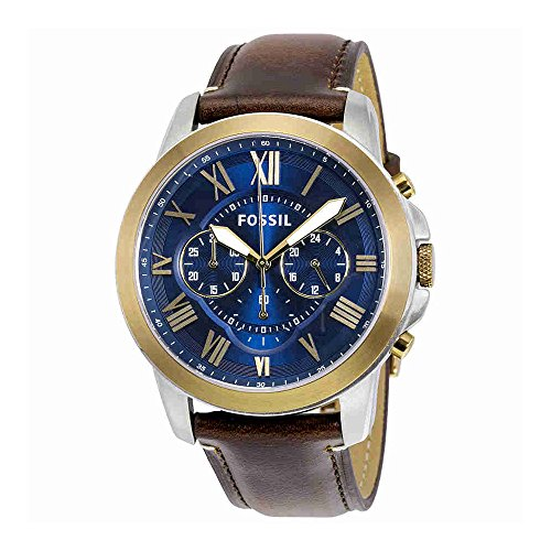 Fossil-Mens-FS5150-Grant-Chronograph-Dark-Brown-Leather-Watch