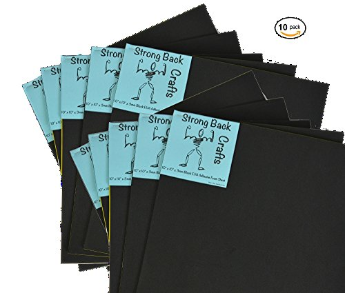 10 PACK-- Black Self-stick Adhesive Foam Sheets 10