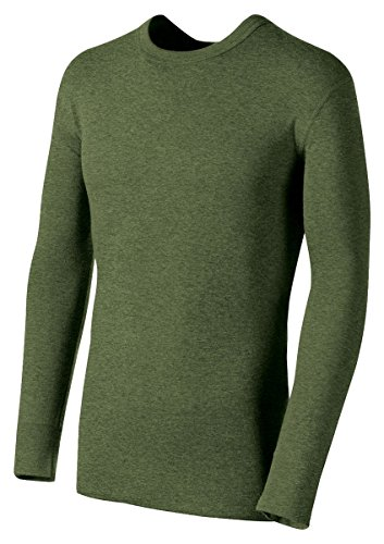 Duofold Men's Mid Weight Double Layer Thermal Shirt, Olive Heather, Large (Bi Jacket Layer)