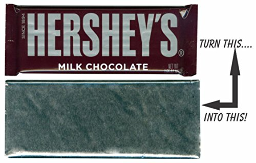 Silver or Gold Chocolate Bar Wrapper Foil, Candy (Pkg of 40) – Foil fits 1.55 oz Hershey Milk Chocolate Bars]()