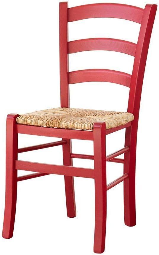 Set Sedie Venezia Colorate in Legno Massello Rosa, Azzurro