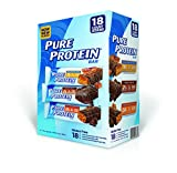 Pure Protein Bar, Chocolate Peanut Butter/ Salted Caramel/Chocolate Deluxe, 18 Count