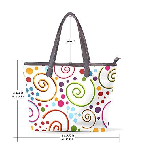 multicolor al para mujer hombro TIZORAX Bolso S8qwXX