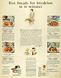 recipe fo - 1926 Ad Procter Gamble Crisco Shortening Recipes Baking - Original Print Ad