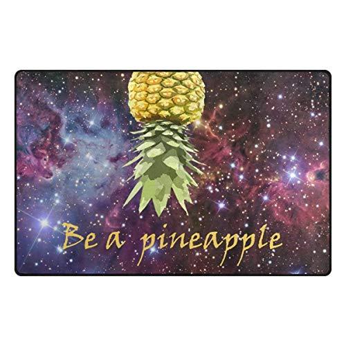 - GAMEYA SHOPP Manual Craft Non-Slip Doormat Rug,Be a Pineapple Personalized Non-Slip Door Mats Eco-Friendly,Non-Toxic