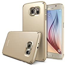 Galaxy S6 Case - Ringke SLIM ***Top and Bottom Coverage*** [ROYAL GOLD][FREE HD Film] Advanced Dual Coating Technology All Around Edge Protection Hard Case for Samsung Galaxy S6 - ECO Package