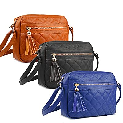 Korjo Crossbody Bags for Women PU Leather with Multi-Pocket & Adjustable Strap Small Shoulder Bag Purse
