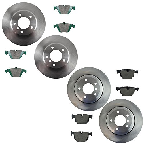 Front & Rear Ceramic Disc Brake Pad & Rotor Kit for BMW 525 528 5 Series