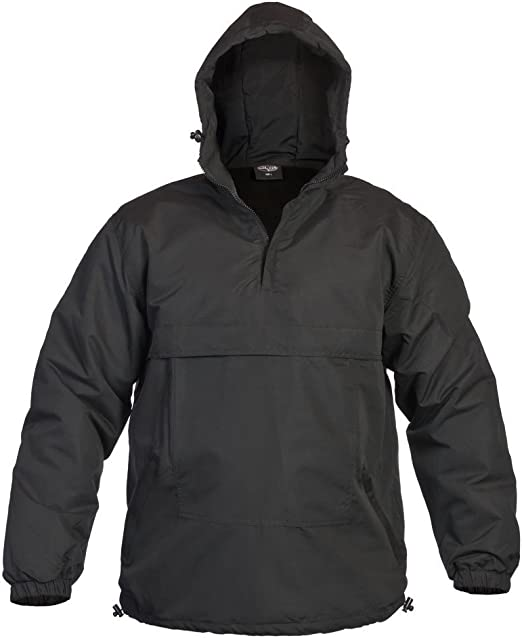 Mil-Tec Mens Combat Hooded WINDBREAKER ANORAK Windproof Black