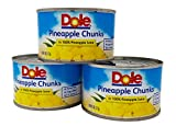 Dole Chunks Pineapple in 100% Pineapple Juice 8 Oz. Can (Pack of 3).