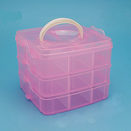 1pcs Home Family Clear Plastic Health Care kid Natural Medicine Cabinet Box