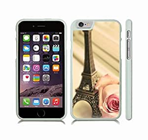 iStar Cases? Case For Samsung Galaxy S5 Cover Case with Eiffel Tower Miniature and Rose, Photo, Close-up , Snap-on Cover, Hard Carrying Case (White)