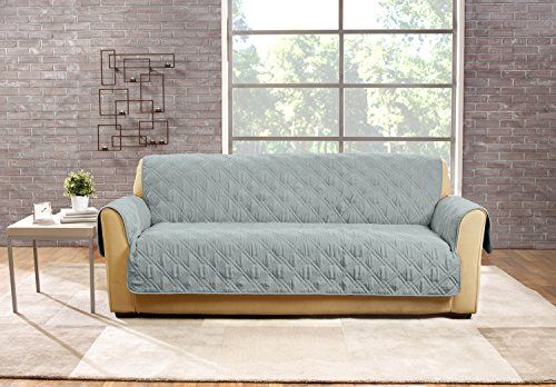 SureFit  Deluxe Non Skid Waterproof Pet Loveseat Furniture Cover, Mist