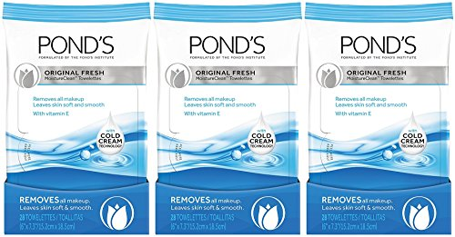 (Pond's Moisture Clean Towelettes Original Fresh 28 ct (Pack of 3))