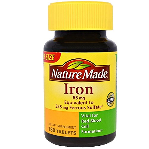 Iron 100 Tablets - Nature Made Iron 65 mg Tablets 180 ea (Pack Of 2)