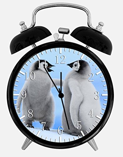(Cute Baby Penguins Alarm Desk Clock 3.75