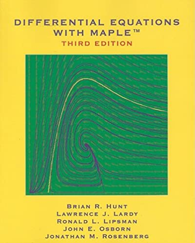 differential equations with maple brian r hunt lawrence j lardy rh amazon com Elementary Differential Equations Elementary Differential Equations