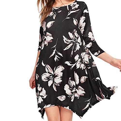 Vestir Moda, Tefamore La Sra Perlas que cuelgan del vestido atractivo del sujetador forro de malla Negro