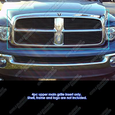 APS Compatible with 2002-2005 Dodge Ram Black Main Upper Billet Grille Grill Insert D65720H: Automotive