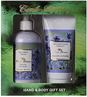 product image for Camille Beckman Hand and Body Duet Set, Silky Body and Glycerine Hand Cream, English Lavender