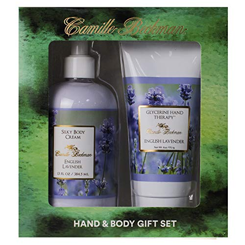 (Camille Beckman Hand and Body Duet Set, Silky Body and Glycerine Hand Cream, English Lavender)