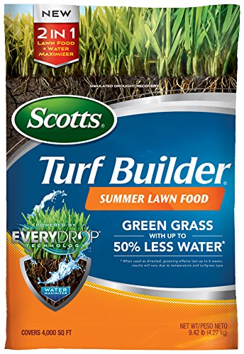 Scotts 49021 Turf Builder 4,000 sq. ft. Summer Lawn Food, 9.42 lb (Best Lawn Fertilizer For Summer)