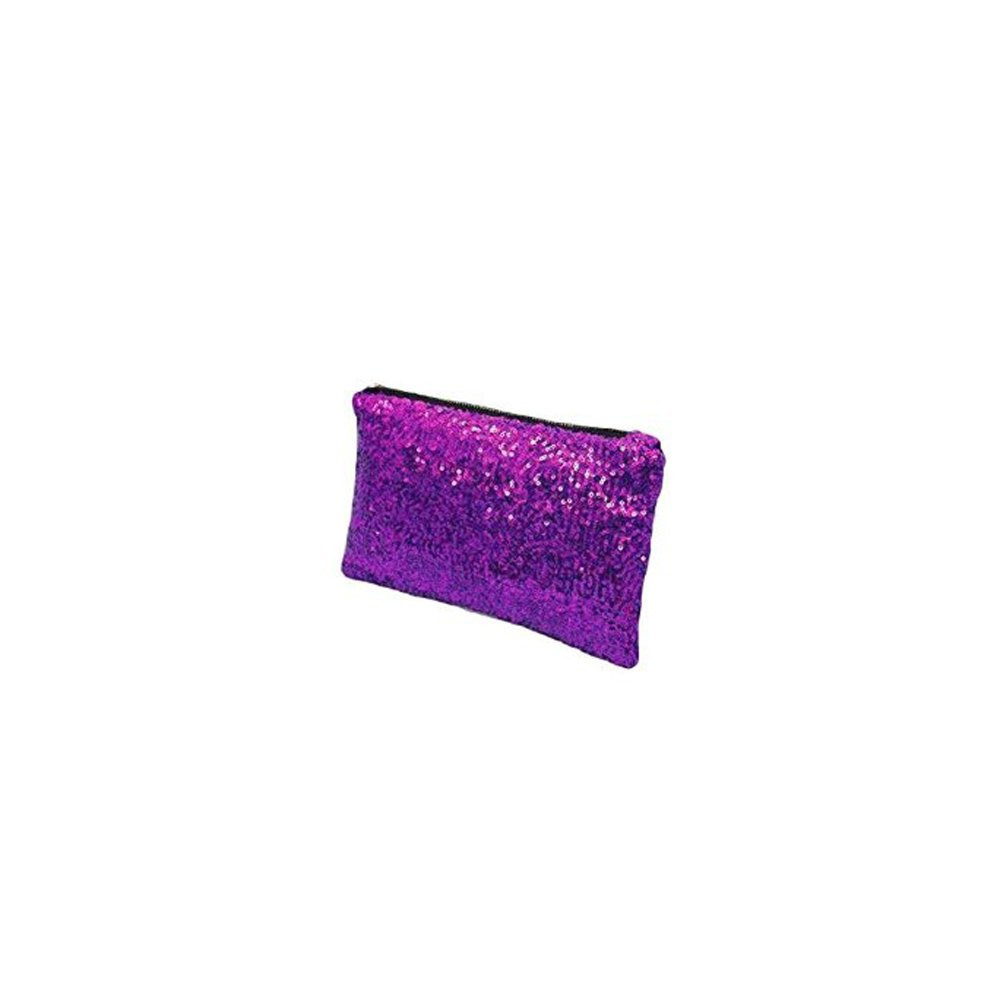 Sequin Party Clutch Make Up Evening Clubbing Toiletry Beauty Glitter Bag Purse