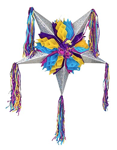 Piata Kids Costumes (Foldable Star Pinata - Yellow, Purple and Blue - Easy to Transport and Great for Mexican Party Decorations and Kid's Parties)