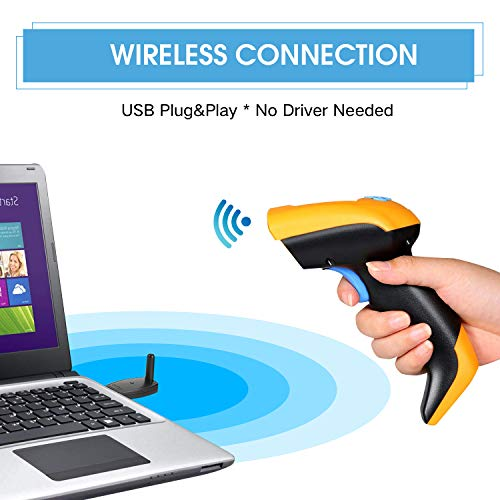 1D USB Handheld Bar Code Reader Laser TroheStar 433Mhz Wireless Barcode Scanner