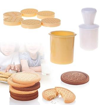 Biniwa - 6 piezas/set de moldes para galletas de la suerte, molde de sello, herramienta para ...