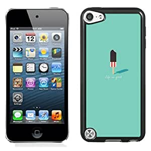 Lovely and Durable Cell Phone Case Design with Ice Cream Flat Minimal Illustration iPod Touch 5 Wallpaper