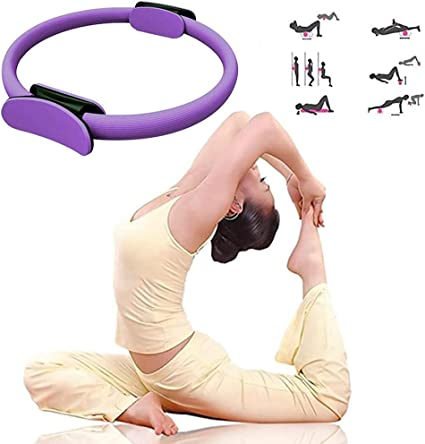 Pilates Ring Yoga Circle Exercise Gym Fitness Body Trainer Magic Tool Dual Grip